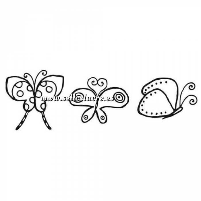 Imagen Diseños inmediatos SELLO CAUCHO CUBO MARIPOSAS COREANAS (Últimas Unidades)