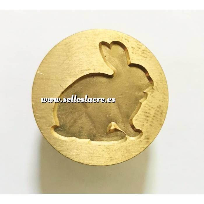 Imagen Diseños inmediatos Sello lacre mango largo - ANIMALES - Conejo (Últimas Unidades)