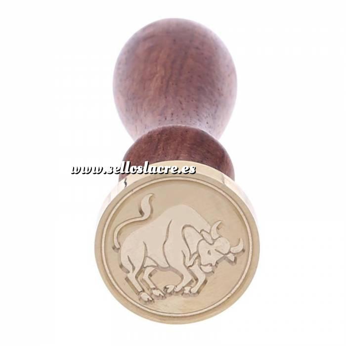 Imagen Diseños inmediatos Sello lacre mango largo - SIGNOS DEL ZODIACO 2 - Tauro (Últimas Unidades)