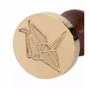 Imagen Diseños inmediatos Sello lacre mango largo - ANIMALES - Origami Pajarita