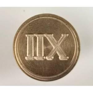 Diseños inmediatos - Sello lacre mango largo - SIMBOLOS - Doce número romano (Últimas Unidades)