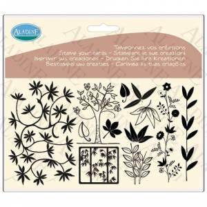 Diseños inmediatos - Sellos árboles y hojas (Descatalogado) (ultimas uds) (Últimas Unidades)