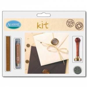 Kits de sellos de lacre - KIT LACRE BODA ANILLOS-CUPIDO