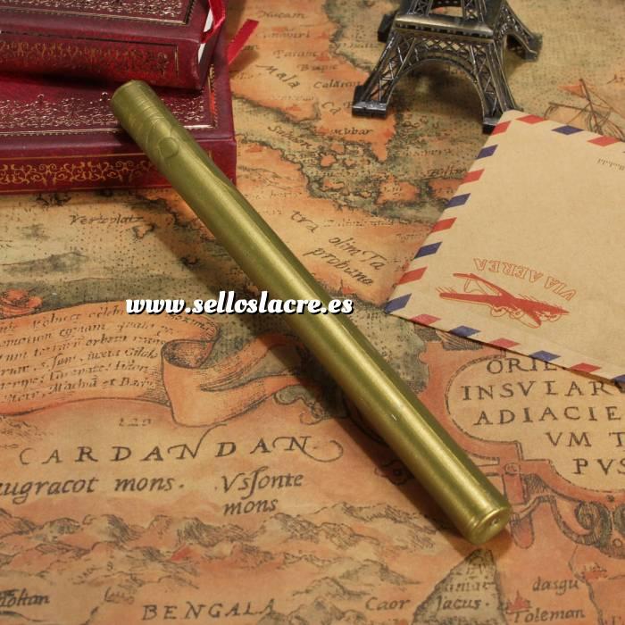 Imagen Barras para PISTOLA Barra Lacre 10mm Flexible Pistola DORADO VERDOSO Brillante (Últimas Unidades)