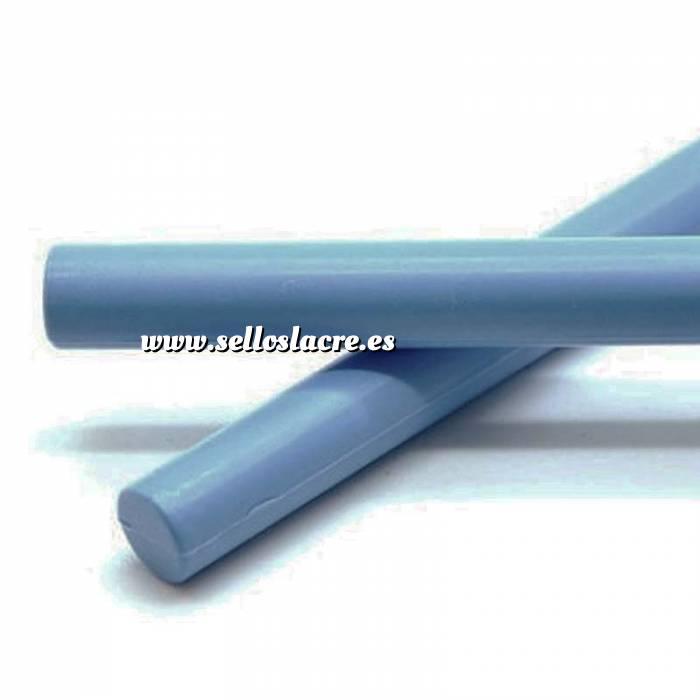 Imagen Barras para PISTOLA Barra Lacre 12mm de Resina AZUL CLARO para Pistola