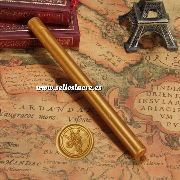 Imagen Barras para pistola Barra Lacre 10mm Flexible pistola DORADO ANARANJADO Brillante