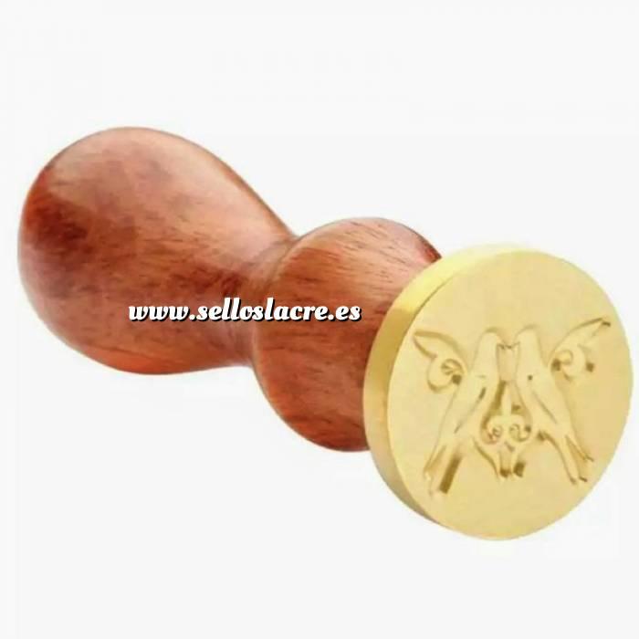Imagen Diseños inmediatos Sello lacre mango largo - BODAS - Dos Palomas (Últimas Unidades)