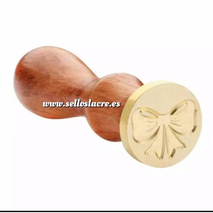 Imagen Diseños inmediatos Sello lacre mango largo - LAZO 1- (Últimas Unidades)