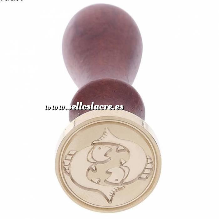 Imagen Diseños inmediatos Sello lacre mango largo - SIGNOS DEL ZODIACO 2 - Piscis(Últimas Unidades)