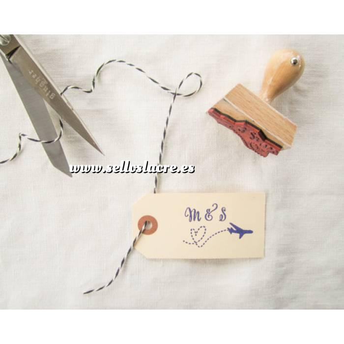Imagen Sello RECTANGULAR Sello de Caucho RECTANGULAR 3x5 o 5x3 - Personalizado con tu diseño