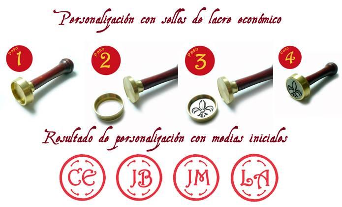 Sellos Lacre. Diseños estándar y con iniciales - Sello Lacre iniciales desde 15 euros