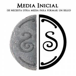 2 Iniciales Intercambiables - Placa Media Inicial S para sello vacío de lacre