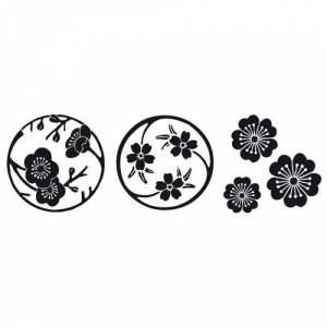 Diseños inmediatos - SELLO CAUCHO CUBO FLORES DE SAKURA (Últimas Unidades)