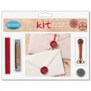 Kits de sellos de lacre - KIT LACRE FLOR DE LIS-SOL