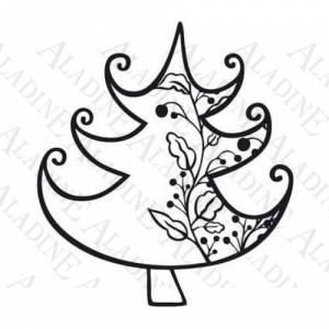 Otros - Sello de Caucho - Árbol con guirnalda (01351) (Últimas Unidades)