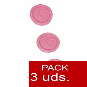 Sellos adhesivos - Sellos de lacre Adhesivos- Pies de bebé rosa 3 uds (Últimas Unidades)