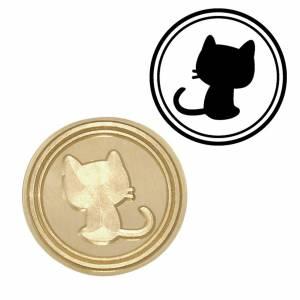 Símbolos - Sello lacre mango largo - ANIMALES - Gato Pequeño (Últimas Unidades)